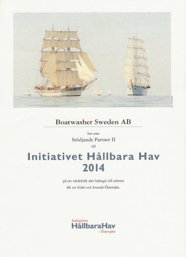 Diplom Hållbara hav 2014