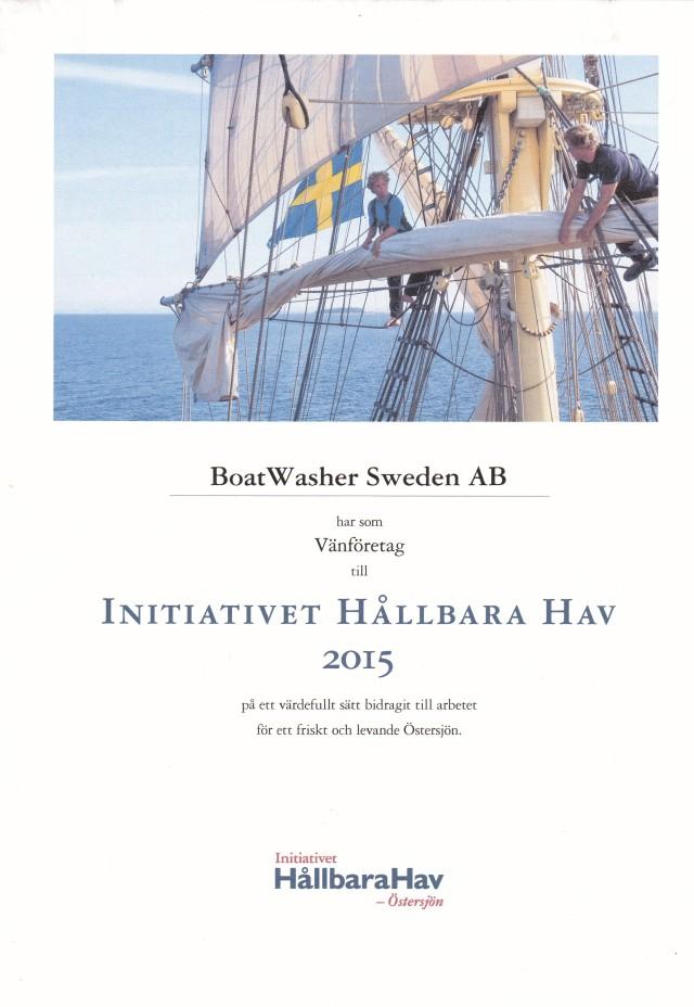 Diplom Hållbara hav 2015