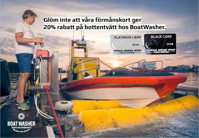 BoatWasher och Yamaha Stores Norrtälje annons