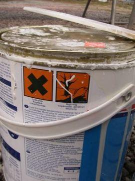 BoatWasher - Färgburk med varningstext och märkning