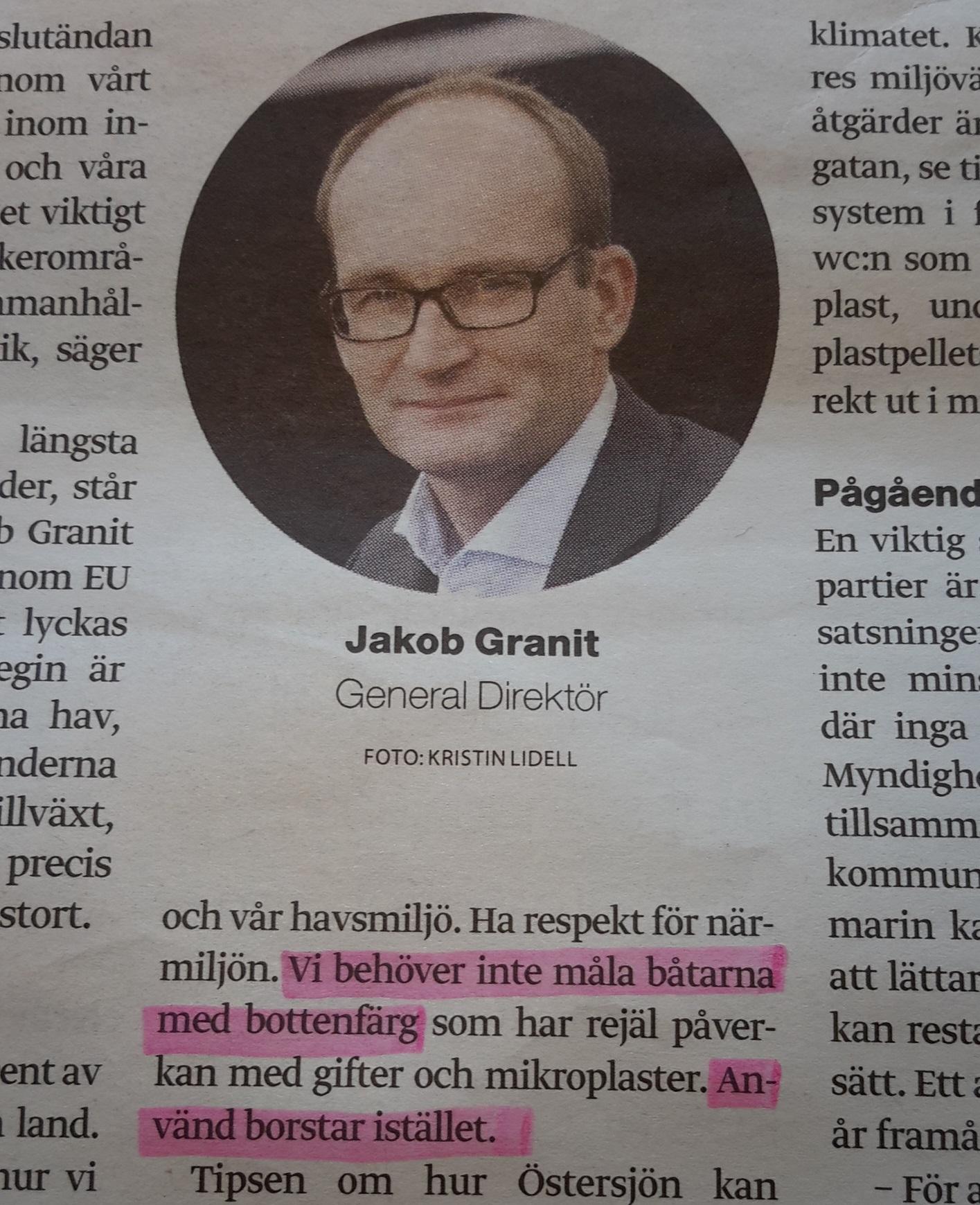 Jakob Granit om borsttvätt 190329